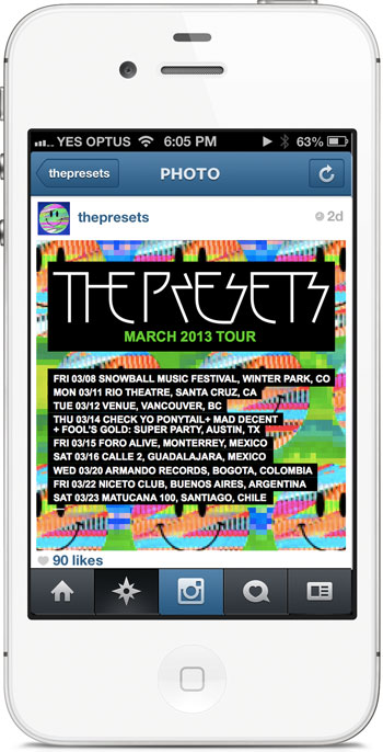 The Presets Tour